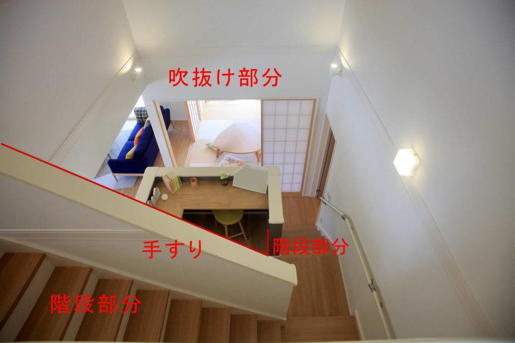 例2:屋内階段横の吹抜け