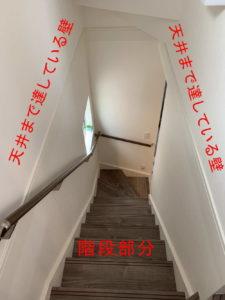例3:壁で囲まれている階段部分